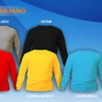 (Size S) - Grosir Kaos Polos Lengan Panjang Cotton Combed 20s Murah