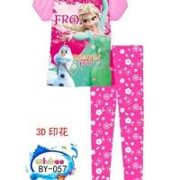 Ailubee By-057 Baju Tidur Import Piyama Anak Frozen