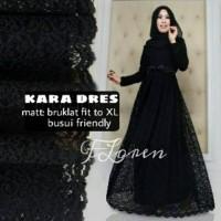 BAJU HIJAB KARA BLACK DRESS BY FLOREN