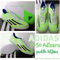 Sepatu Futsal Adidas F50 Adizero IV Putih Hijau