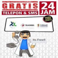 KARTU PERDANA GRATIS TLP DAN SMS 24 JAM NONSTOP [TSEL | XL | IND ]