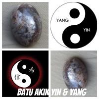 Batu akik motif gambar Yin Yang