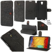 Jual Mlt Leather Flip Book Cover Case Kulit Samsung Galaxy Note 3 Neo