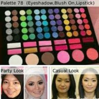 MAC Pallete 78 warna (Lipstik+BushOn +EyeShadow)