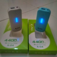 harga Garansi 12 Bulan Power Bank King (keyway) K04 (4400mah) Blue And White Tokopedia.com
