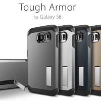 Samsung Galaxy S6 Hard Case Spigen Stand Armor Cover(casing Galaxy S6)