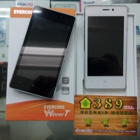 "EVERCOSS A74A (WINNER T),4"", QuadCore, Ram 1Gb, ROM 8Gb, Cam 5Mp+3Mp"