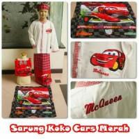 koko set sarung karakter cars merah (uk S)