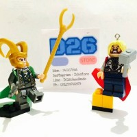 1 Set Lego Mini Figure Loki dan Thor