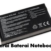 Baterai Laptop ASUS A8 Series A32-A8, A8J, A8JA, A8Fm A8JM, A8JS, OEM