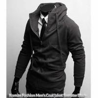 Korean Fashion Men's Coat Jaket Sweater Black