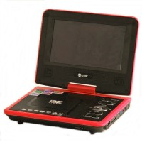"GMC TV 11"" DIVX-808Y Portable DVD Player - Merah-Hitam"