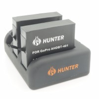 Hunter Charger go pro hero 3 4 sport cam free 2 battery batre baterai