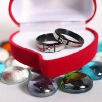 CINCIN TUNANGAN ORIGINAL - Black Shuriken Ring