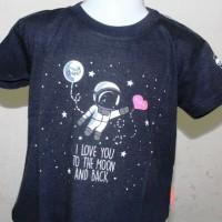 "Kaos Anak Balita Glow in The Dark ""I Love You to The Moon and Back"""