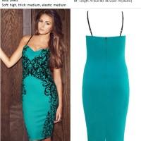 harga 17789 Baju Pesta Hijau Wanita Import Brokat Sexy Bustier Lace Dress Tokopedia.com