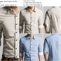 harga 17798 Baju Kemeja Kerja Jalan Pesta Fashion Pria Import Garis Striped Tokopedia.com
