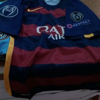 Jersey Barca Home Full Patch UCL ( Champion ) 2015/2016
