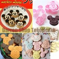 Mickey & Minnie Cookie Cookies Cutter Kucing Cetakan Nasi Rice Mould