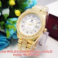harga RLX01 FG Jam Tangan Wanita Rolex Ladies Watch Diamond Full Gold Tokopedia.com
