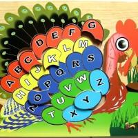 Toko Mainan online - Puzzle Alphabet Merak