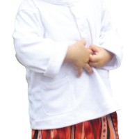 Baju Koko Putih Anak Mufee - Nomor 3