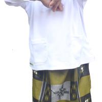 Set Sarung Celana Peci Anak Samarinda Mufee Coklat Hijau Olive - M
