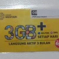 PERDANA MENTARI 3GB / INDOSAT 3GB / PAKET INTERNET MENTARI 3 GB