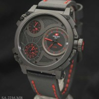 Swiss Army SA2216 Triple Time (BLR) Leather