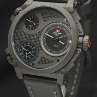 Swiss Army SA2216 Triple Time (BLGRY) Leather