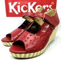 Sepatu Wedges Kickers women wanita santai
