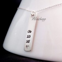 necklace name / kalung nama / date monel