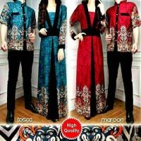couple muslim batik kimono