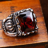 harga Luxuriouz Titanium Ruby Crown Ring / Cincin Titanium Tokopedia.com