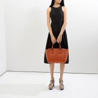 Tas Charles and Keith Quilted Panel Hand Bag Orange