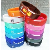 jam tangan gelang LED Nike Adidas New Sporty