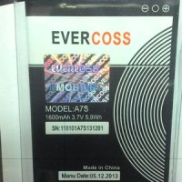 Battery evercoss A7S ori 100%