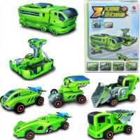 7 in 1 Solar Transformer Car Truck Power Plant Racing Car kit robot