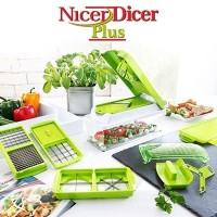 harga Genius Nicer Dicer Plus Multifungsi Chopper Kitchen Alat Potong Sayur Tokopedia.com