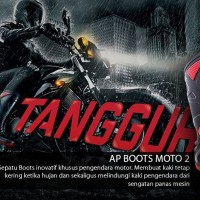 Ap Boots Moto 2 - Sepatu Boots Safety Rider