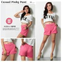 harga Hot Pant Pinky Girl /  Celana Pendek Pink Polos Pinggang Karet Tokopedia.com