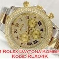Rlx04k Jam Tangan  Wanita Rolex Daytona Kombinasi Ladies Watch Rlx04 K
