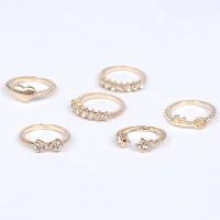 Cincin Korea Best Seller Ring Forever 21 diamond decorated bowknot