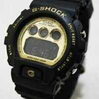 G shock digital Hitam List Gold