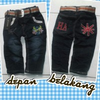 Celana Jeans Anak Usia 2-3 Th Free Belt / Real Pict