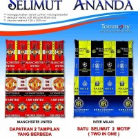 Selimut Ananda 2 in 1 - Manchester United & Inter Milan