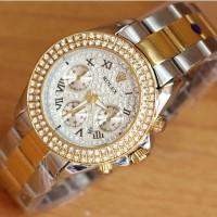Jam Tangan Rolex Daytona SIlver Gold