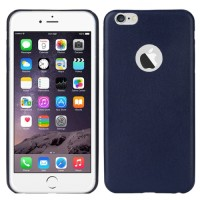 Official Logo Leather Case iPhone 6 Dark Blue