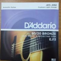 Senar Gitar Akustik 011 D'Addario EJ 13 Original USA