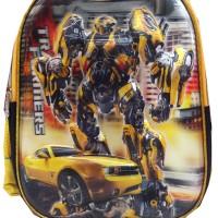 Tas Troley Anak Transformer Kuning 5D Timbul Gambar Bisa Brubah